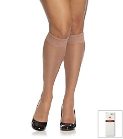 Hanes® Plus Size Silky Sheer Knee Highs