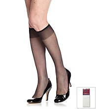 Hanes® 2-pk. Reinforced Toe Silky Sheer Knee Highs