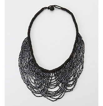 "Relativity® Black 18"" Necklace"