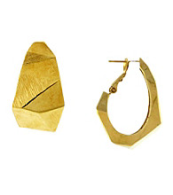 Vince Camuto™ Goldtone Angular Hoop Earrings