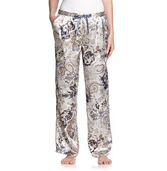 Chanteuse® Satin Pants - Blue Floral