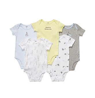 Carter's® Baby Boys' Multi 5-pk. Short Sleeve Bodysuits