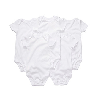 Carter's® Baby White 5-pk. Short Sleeve Bodysuits