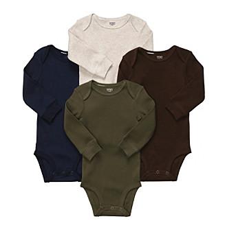 Carter's® Baby Boys' Multi 4-pk. Long Sleeve Ribbed Bodysuits