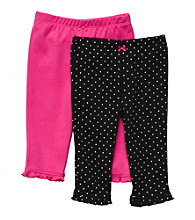 Carter's® Baby Girls' Pink/Black Dot 2-pk. Knit Pants