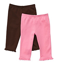 Carter's® Baby Girls' Pink/Brown 2-pk. Knit Pants