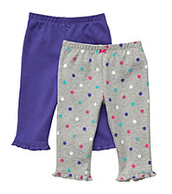 Carter's® Baby Girls' Grey/Purple 2-pk. Knit Pants