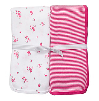 Carter's® Baby Girls' Bright Pink/White 2-pk. Swaddle Blankets