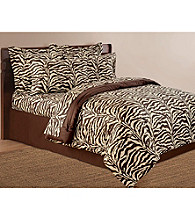 Scent-Sation, Inc. Wild Life Brown Zebra Print Sheet Sets