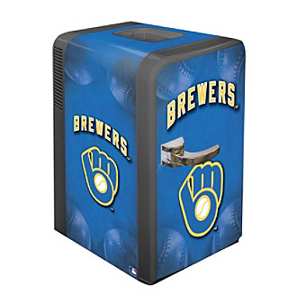 Boelter Brands Milwaukee Brewers Retro Portable Party Fridge