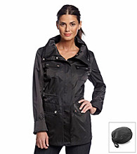 Calvin Klein Black Packable Zip-Front Anorak Jacket