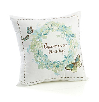 "MaryJane's Home ""Count Your Blessings"" Decorative Pillow"