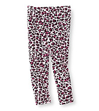Little Miss Attitude Girls' 2T-6X Pink Animal Print Leggings