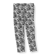 Little Miss Attitude Girls' 2T-6X Zebra Print Leggings Set