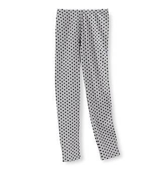 Miss Attitude Girls' 7-16 Grey and Black Dot Leggings