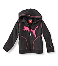 PUMA® Girls' 2T-16 Zip-up Active Hoodie