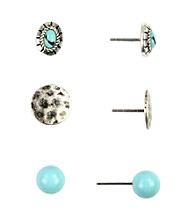 Nine West Vintage America Collection® Stud Trio Earrings Set