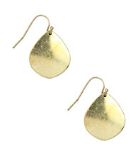 Nine West Vintage America Collection® Small Brass Ox Drop Earrings
