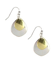Nine West Vintage America Collection® Two Tone Teardrop Earrings