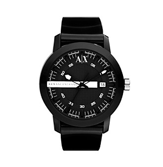A|X Armani Exchange Unisex Black Plastic Color Pop Watch