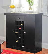 TMS Black Wine Storage Cabinet