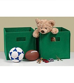 RiverRidge Kids Green 2-pc. Folding Storage Bin Set