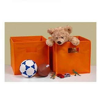 RiverRidge Kids Orange 2-pc. Folding Storage Bin Set
