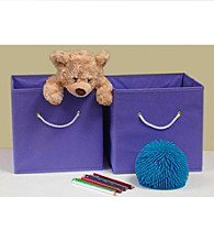 RiverRidge Kids Purple 2-pc. Folding Storage Bin Set