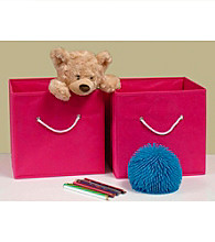 RiverRidge Kids Hot Pink 2-pc. Folding Storage Bin Set
