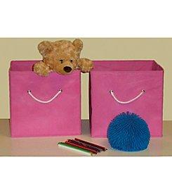 RiverRidge Kids Pink 2-pc. Folding Storage Bin Set