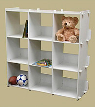 RiverRidge Kids White 9-pc. Cubby Storage