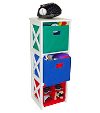 RiverRidge Kids Primary Colors X-Frame Kids Storage Cabinet