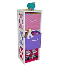 RiverRidge Kids Pastel Colors X-Frame Kids Storage Cabinet