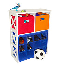 RiverRidge Kids Primary Colors X-Frame Kids Storage with 12 Slots