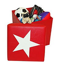 RiverRidge Kids Red Kids Storage Ottoman
