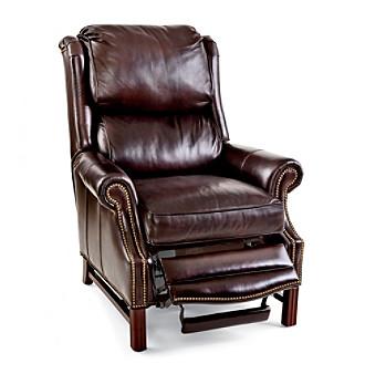 Bradington-Young® Alta High-Leg Lounger Leather Recliner
