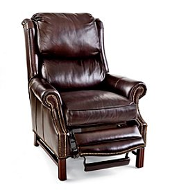 Bradington-Young® Alta High-Leg Lounger Leather Recliner
