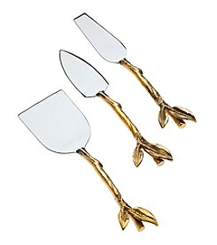 Godinger® Leaf Design Two-Tone 3-pc. Cheese Set