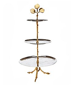 Godinger® Leaf Design Two-Tone 3-Tier Server