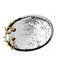Godinger® Leaf Hammered Oval Tray