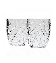 Godinger® Crosswinds Set of 4 Double Old Fashion Glasses