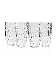 Godinger® Crosswinds Set of 4 Highball Glasses