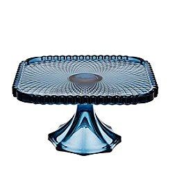 Godinger® Belmont Blue Square Cake Plate
