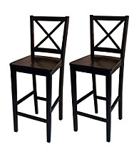 TMS Set Of 2 Black Virginia Stools
