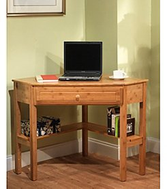 TMS Natural Finish Corner Desk