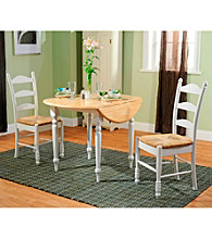 TMS 3-pc. White Ladderback Dining Set