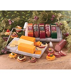 Swiss Colony® Marble Cheese Board with Cheeses & Sausages