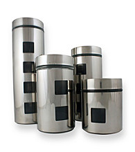 PURELIFE™ by Ragalta® 4-pc. Stainless Steel Canister Set