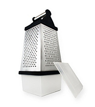 PURELIFE™ by Ragalta® Stainless Steel 4-sSide Grater with Storage Container