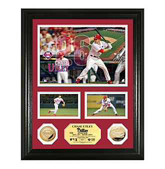 "Chase Utley Gold Coin ""Showcase"" Photo Mint by Highland Mint"